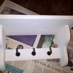 Painted coat rack