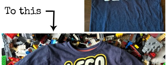 DIY LEGO shirt header